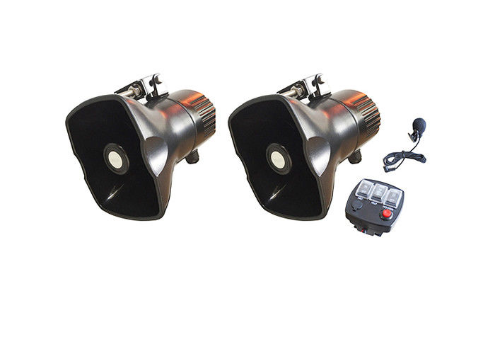 30W Electronic Handheld Emergency Siren Loudspeaker For Motorcycles